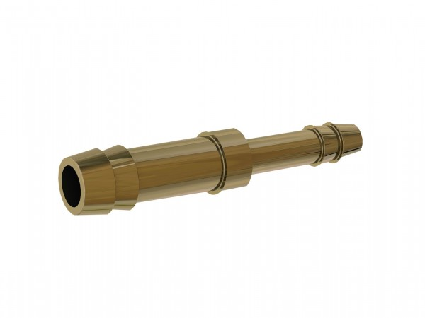 Double hose connector, reduced, for hose I.D. 9,13 mm, Brass