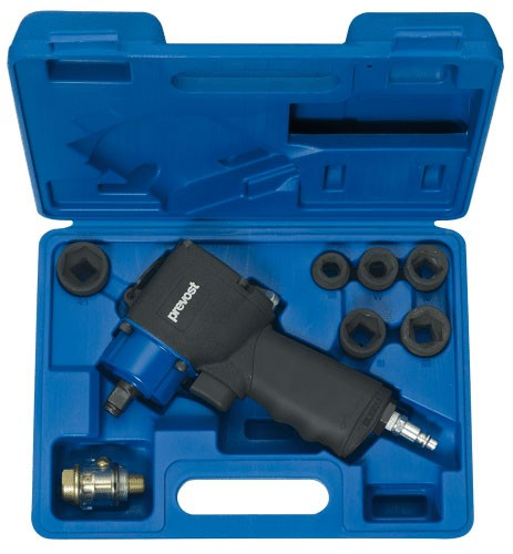 Compact air impact wrench Prevost TIW K120680K in case