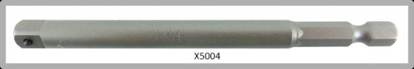 """Vessel POWER BIT 1/4"""" HEX E6.3 ADAPTER SQ 1/4"""" X 102 (mm)"""